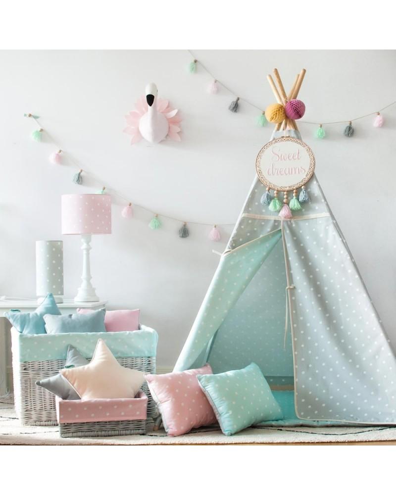 Sátrak LC Pöttyös sátor gyerekeknek választható színben