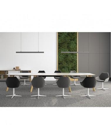 Íróasztalok, irodai asztalok PG Prémium Sandiss bővíthető tárgyalóasztal