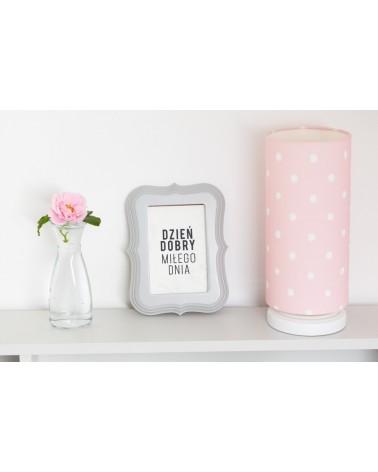 LC éjjeli lámpa rózsaszín - pöttyös kollekció