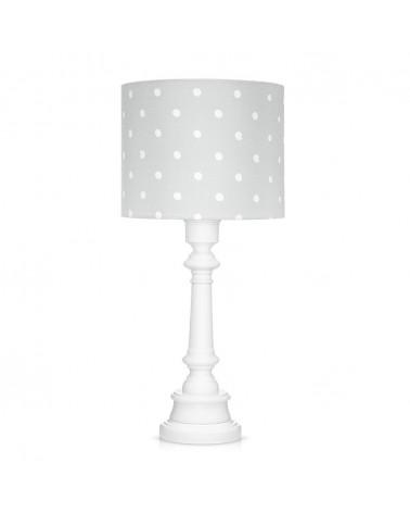 LC asztali lámpa szürke - pöttyös kollekció