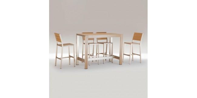 Kültéri asztalok, étkezőszettek NI 966/4 szett