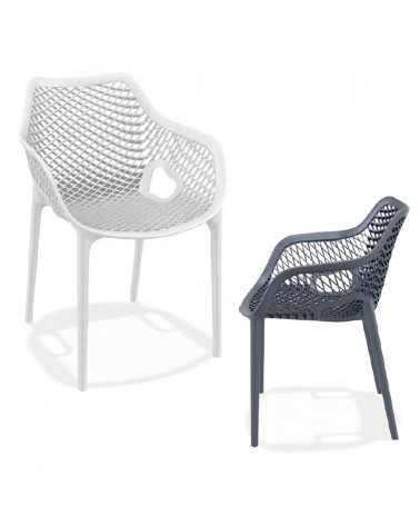 Kültéri műanyag székek NI 1051 műanyag karfás szék