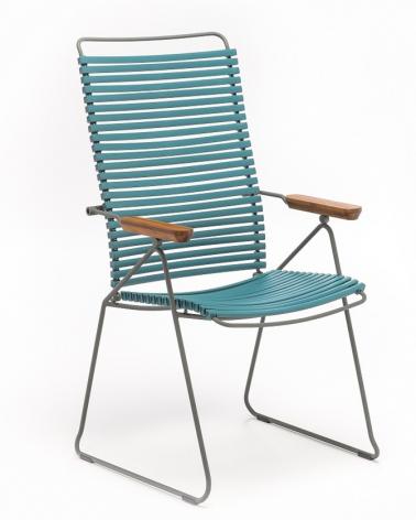 Kültéri fém székek HE Click II. állítható háttámlás kültéri szék választható színben