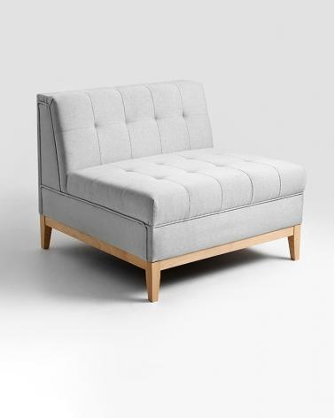 Fotelek, kanapék, lounge RM By-Tom Fotel elem választható kárpittal, pácolással