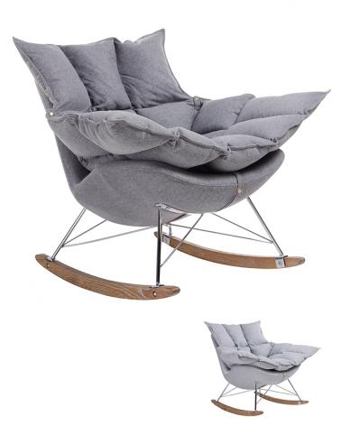 Fotelek, kanapék, lounge KH Swing replica hintaszék, választható szövettel színben