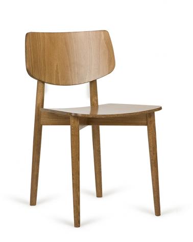 Szék PG Uvu I. Erős, minőségi éttermi fa szék, választható pácolással, kárpitozással