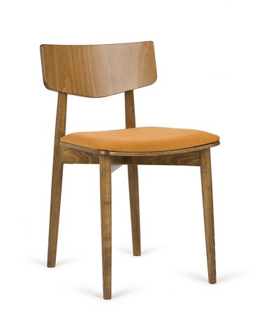 Szék PG Uvu II. Erős, minőségi éttermi fa szék, választható pácolással, kárpitozással