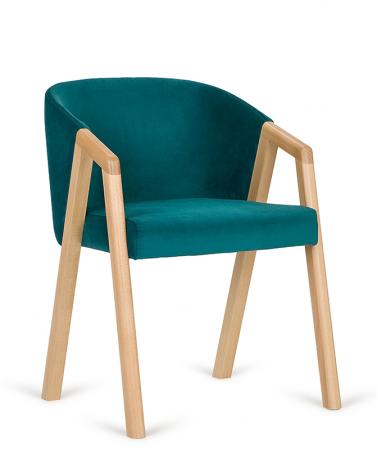 Szék PG Aires, Vendéglátóipari erős, minőségi kárpitozott design szék, választható pácolással és kárpitozással