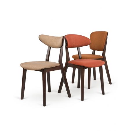 Szék PG Lof V. Erős, minőségi éttermi kárpitozott szék, választható pácolással és kárpitozással
