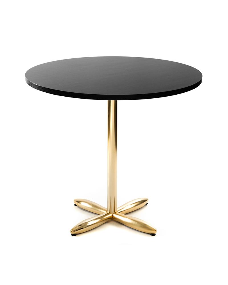 VE Zeppelin aranyszínű, galvanizált éttermi modern asztalláb, asztalbázis