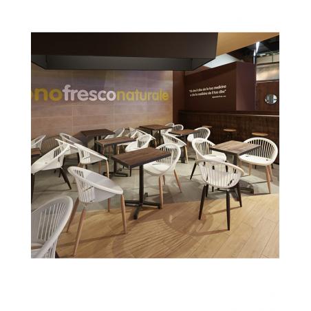 SC Cross erős éttermi modern asztalláb, asztalbázis, központiláb választható színben