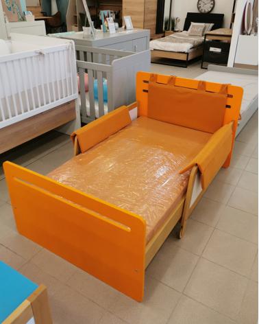 AI Simple Kihúzható Ágy 90 X 165-205 narancssárga színben