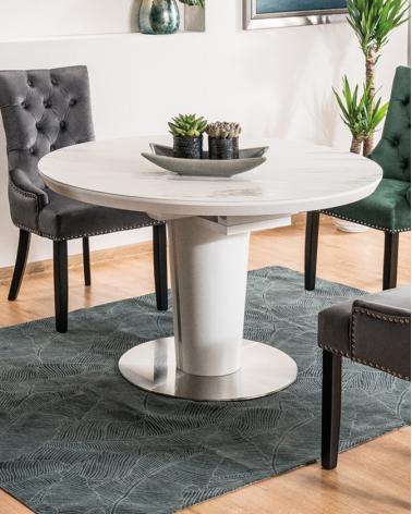 Étkezőasztalok LA Orbit II. 120(160)x120 bővíthető étkezőasztal