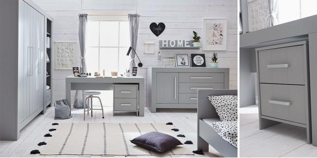 Gyerekszobák, ifjúsági szobák PI Calmo gyerekszoba fehér vagy szürke színben