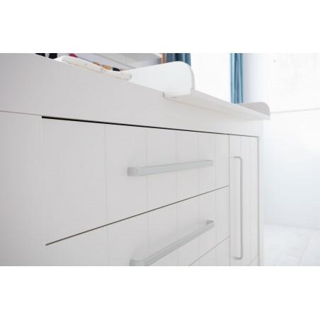 Komód PI Calmo 3 fiókos MDF komód gyerekbútor szürke és fehér színben
