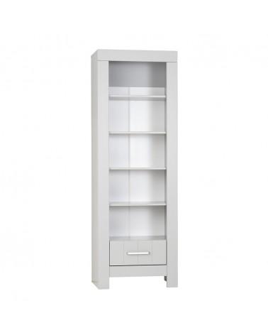 Könyvszekrény PI Calmo MDF könyvespolc gyerekbútor szürke és fehér színben