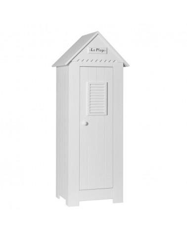 Ruhásszekrény, Gardrob PI Marsylia 1 ajtós szekrény gyerekbútor fehér színben