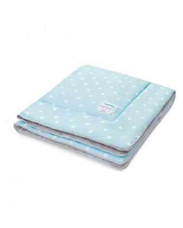 Ágyneműk LC gyapjú takaró 80x100 cm kék - pöttyös kollekció