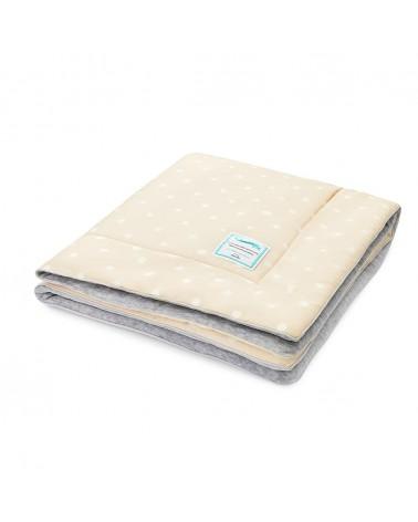 Ágyneműk LC gyapjú takaró 80x100 cm bézs - pöttyös kollekció