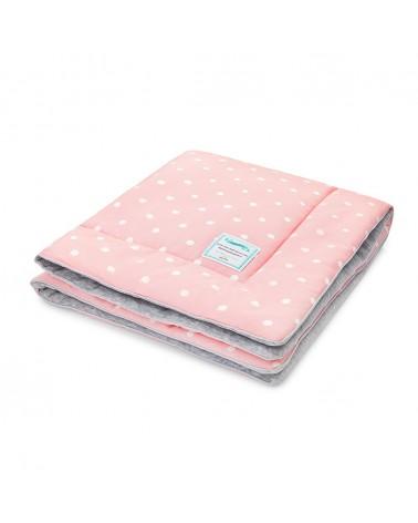 Ágyneműk LC gyapjú takaró 80x100 cm rózsaszín - pöttyös kollekció