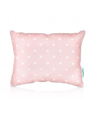 Kezdőlap LC párna kétoldalú 30 x 40 cm rózsaszín - szürke pöttyös kollekció