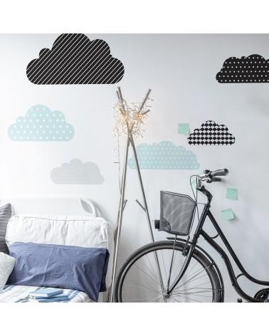 Falmatricák DK színes felhők minőségi falmatrica szett