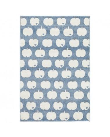 Gyerekszoba Szőnyegek LE Almás - kék - fehér színben - minőségi gyerekszőnyeg