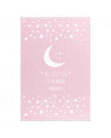 Kezdőlap LE Holdfény - mosható - Rózsaszín színben - minőségi gyerekszőnyeg