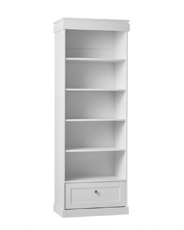 Könyvszekrény PI Marie Könyvespolc gyerekbútor fehér színben
