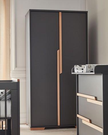 Kezdőlap PI Snap 2 ajtós szekrény szürke színben