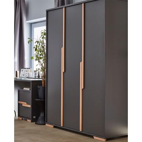 Kezdőlap PI Snap 3 ajtós szekrény szürke színben