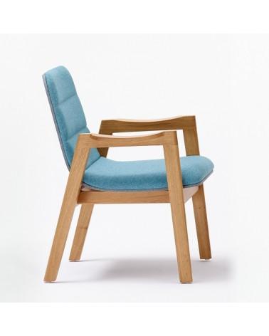 EG Dub M minőségi karfás kárpitozott fa szék