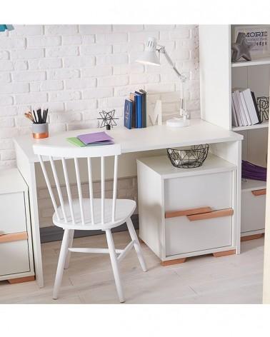 Kezdőlap PI Snap íróasztal szett fehér színben