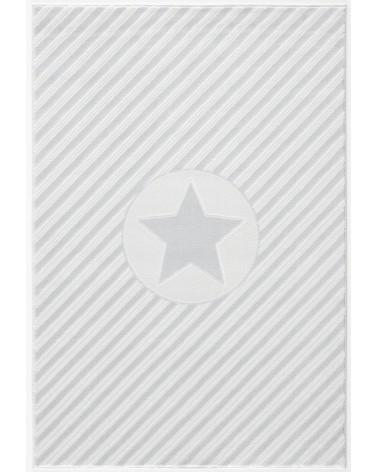Gyerekszoba Szőnyegek LE Decostar, csillagos ezüstszürke - fehér színű gyerekszőnyeg