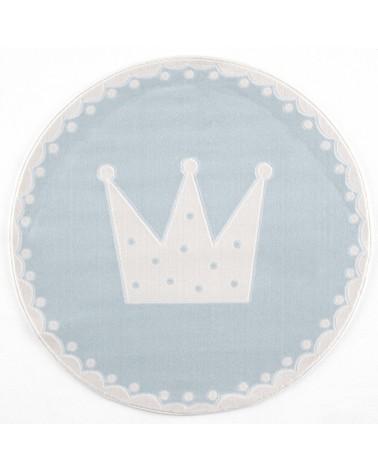 Gyerekszoba Szőnyegek LE Korona, krém - pasztell kék kör gyerekszőnyeg