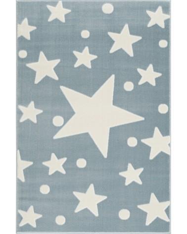 Gyerekszoba Szőnyegek LE Estrella csillagos, kék - fehér színű gyerekszőnyeg