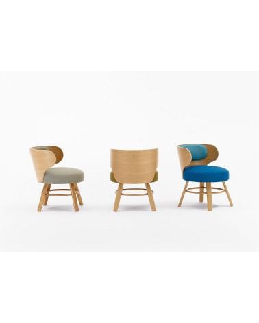 EG K2 minőségi kárpitozott fa szék