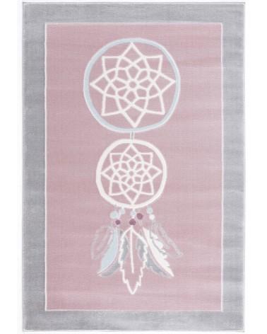 Gyerekszoba Szőnyegek LE Áloműző, rózsaszín - ezüstszürke színű gyerekszőnyeg