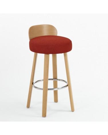 EG K2 II. minőségi kárpitozott fa bár szék