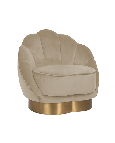 Kezdőlap NT Olivia bézs bársony fotel
