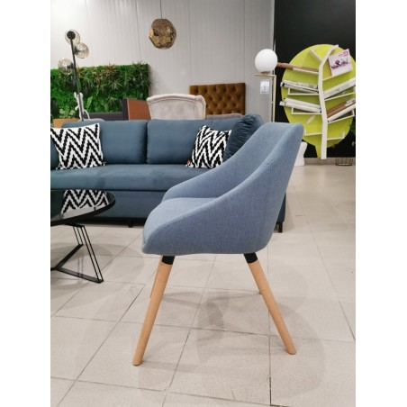Szék MB Dublin Erős kényelmes szék kék kárpittal