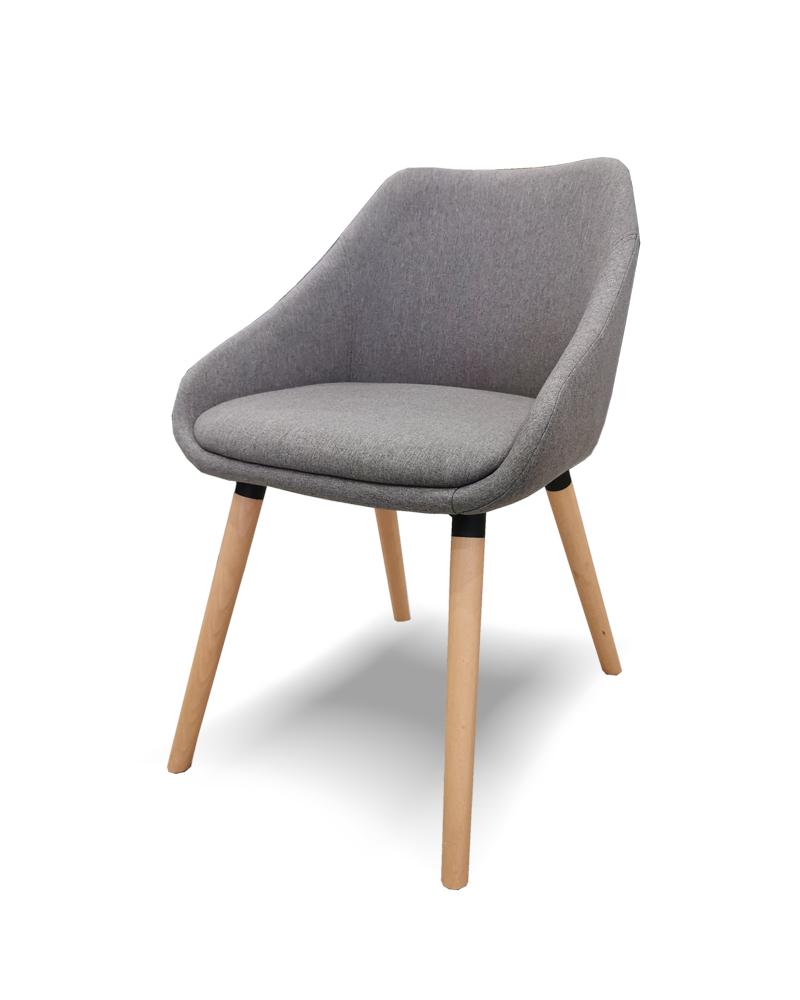 Szék MB Dublin Erős kényelmes szék sötétszürke kárpittal