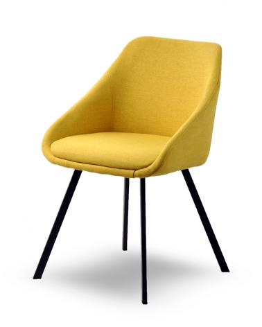 Szék MB Dublin I. Erős kényelmes szék sárga kárpittal