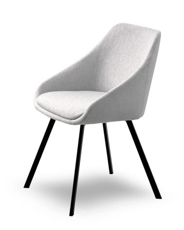 Szék MB Dublin I. Erős kényelmes szék világosszürke kárpittal