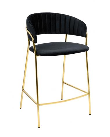 Kezdőlap KH Margo I. fekete bárszék, arany színű lábbal