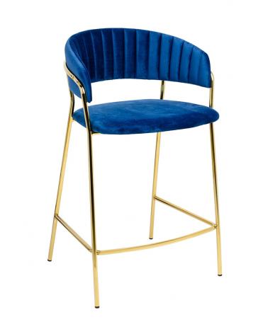 Kezdőlap KH Margo II. kék bárszék, arany színű lábbal