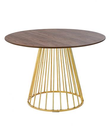 Kezdőlap KH Glam - Dió furnérozott asztal D110 cm