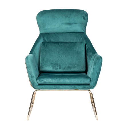 Kezdőlap MD Faro fotel zöld bársony-arany