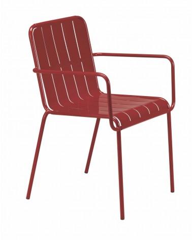 MO Stripes karfás és karfa nélküli fém szék