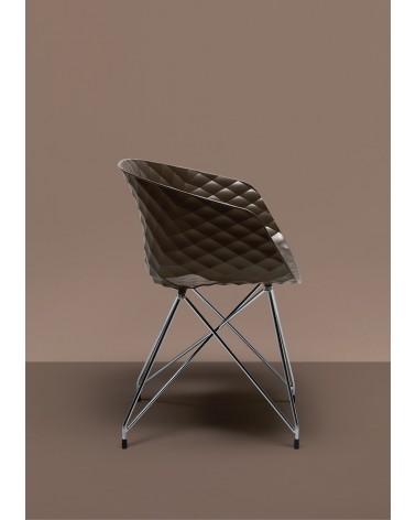 Műanyag design szék MO Uni-Ka III. Fémvázas műanyag szék